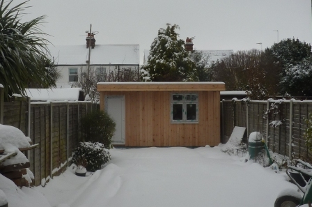 Soundproof Studio in the snow